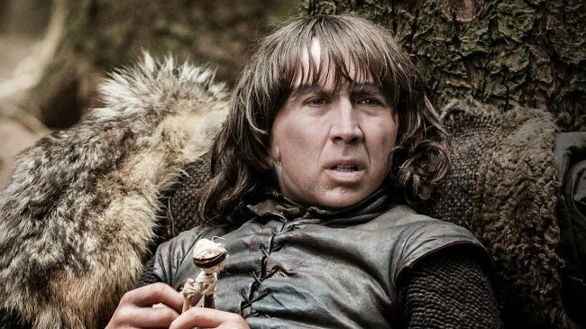 Nicolas Cage as Bran Stark, Game of Thrones cast