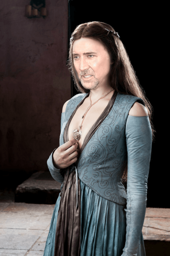 Nicolas Cage as Margaery Tyrell, Game of Thrones cast