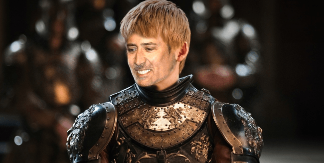 Nicolas Cage as Joffrey Baratheon, Game of Thrones cast