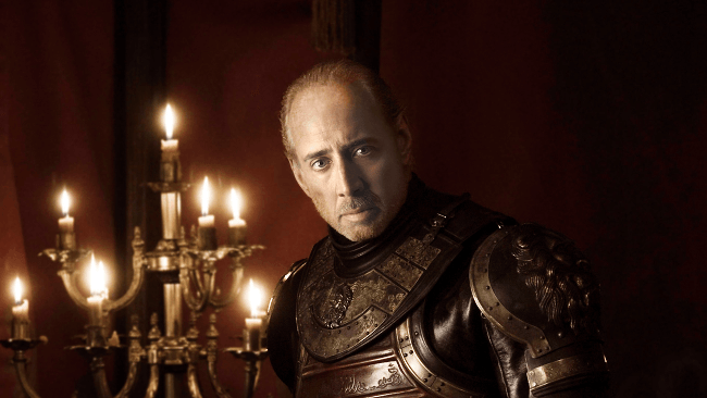 Nicolas Cage as Tywin Lannister, Game of Thrones cast