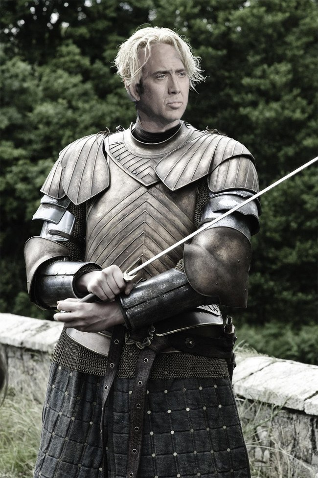 Nicolas Cage as Brienne of Tarth, Game of Thrones