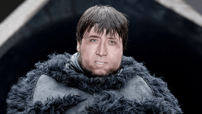 Nicolas Cage as Samwell Tarly, Game of Thrones
