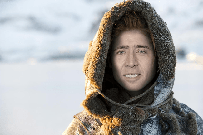 Nicolas Cage as Ygritte, Game of Thrones