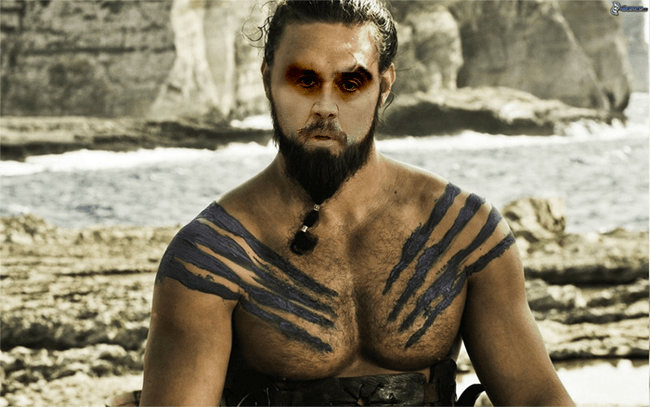 Nicolas Cage as Khal Drogo, Game of Thrones