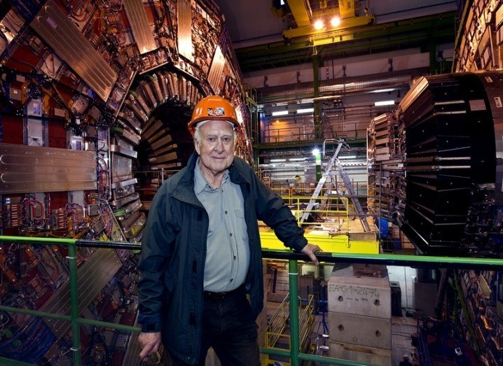 Prof Peter Higgs at CERN