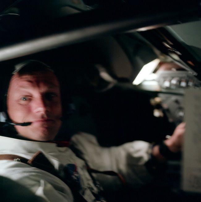 Apollo 11 photos Aldrin in lander