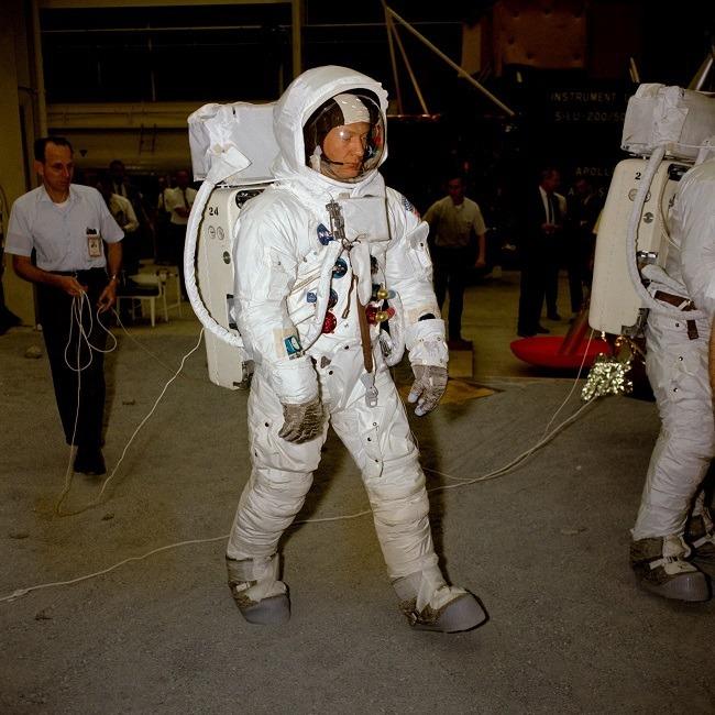 Apollo 11 photos Buzz Aldrin in suit