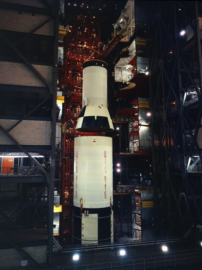 Apollo 11 photos Saturn V being prepared for launch