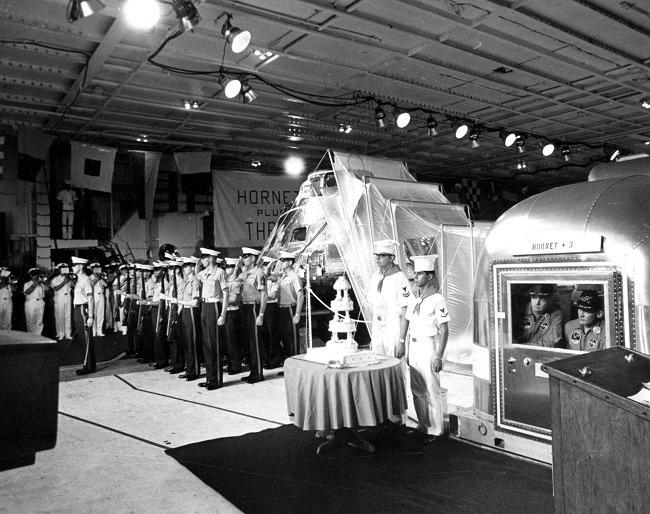 Apollo 11 photos cake cutting