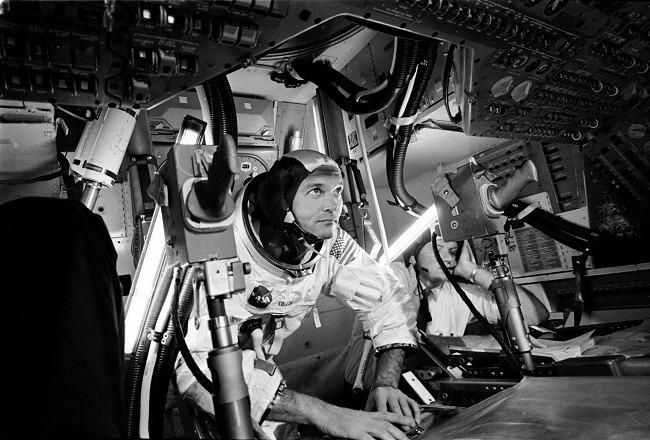 Apollo 11 photos inside craft