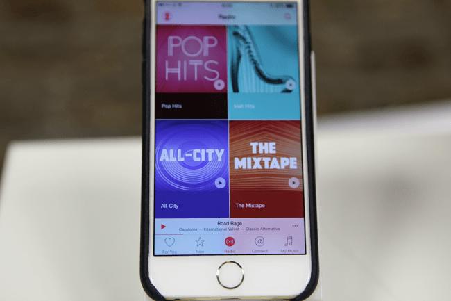 Apple Music colourful menu