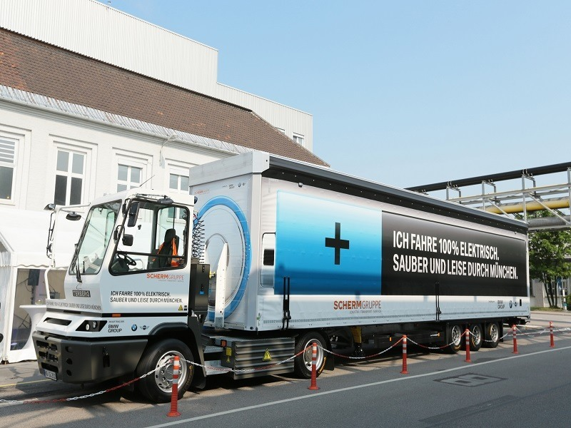 BMW tests its electric truck on the open road
