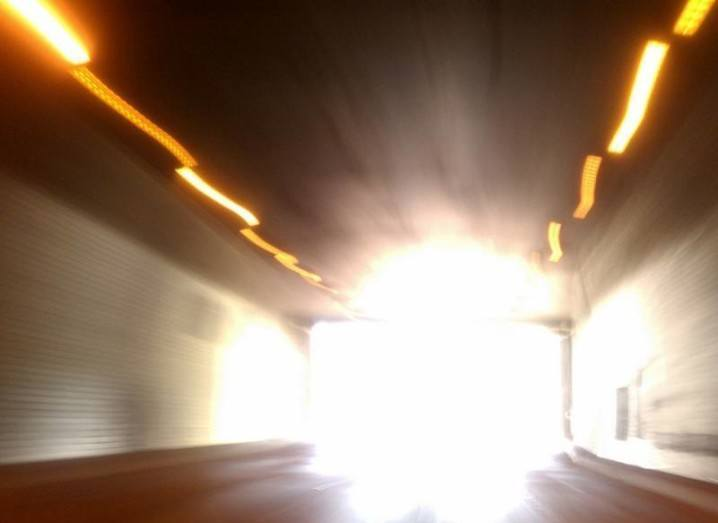 Bright light at end of tunnel
