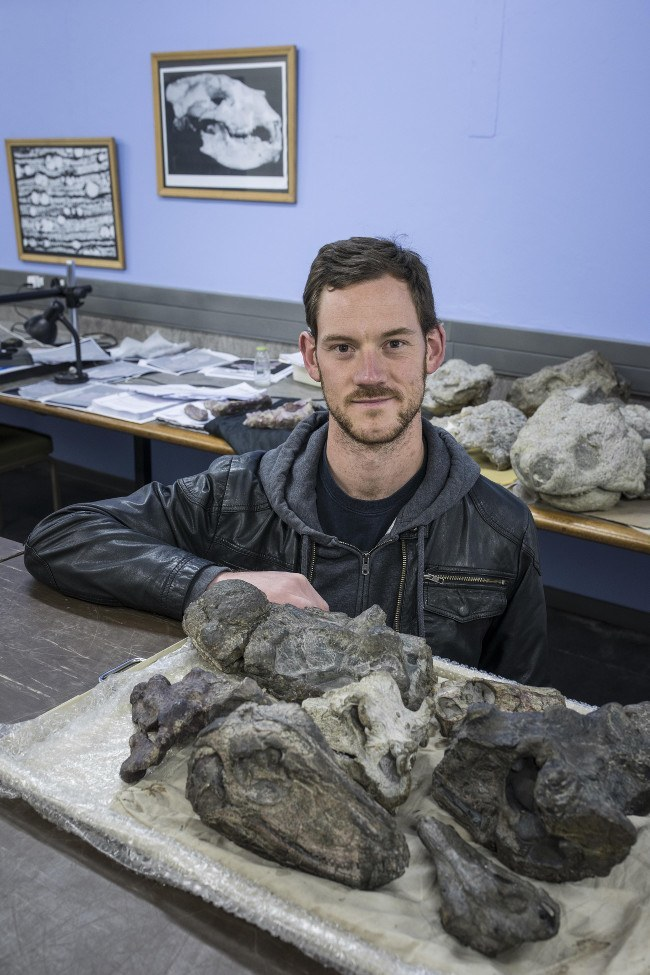 Paleontologist Dr Michael Day, Wits University, via Brett Eloff.