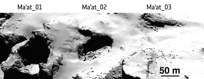 The evolution of sinkholes on Comet 67p