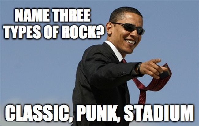 Geology memes - rock types