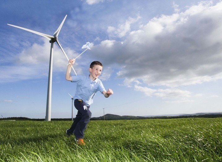 Child at Global Wind Day in June