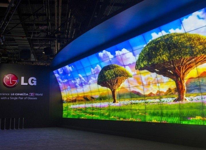 LG screen at CES