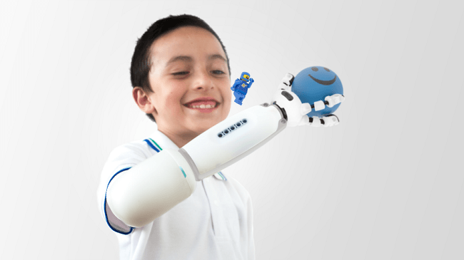 Lego prosthetic arm on Dario