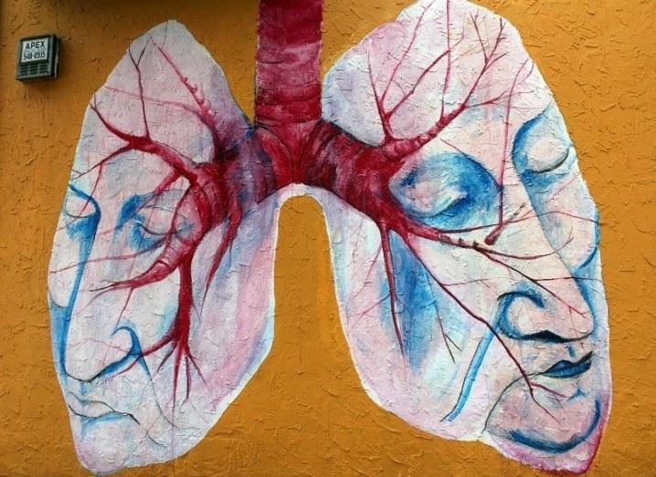 Graffiti of lungs