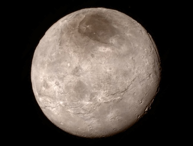 New Pluto photos Charon