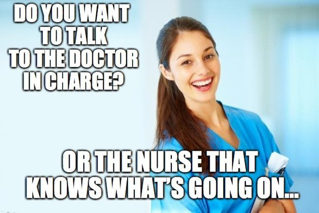 Nurse memes doc in charge