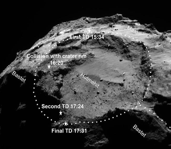 Philae landing site