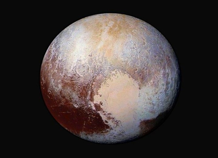 Pluto atmosphere false colour image