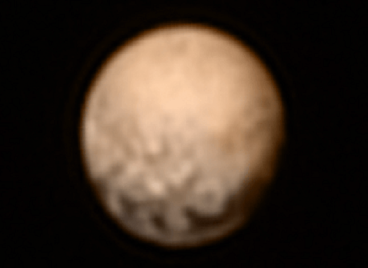 Colour image of Pluto