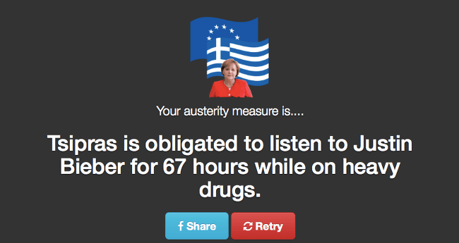 Austerity measure - Justin Bieber