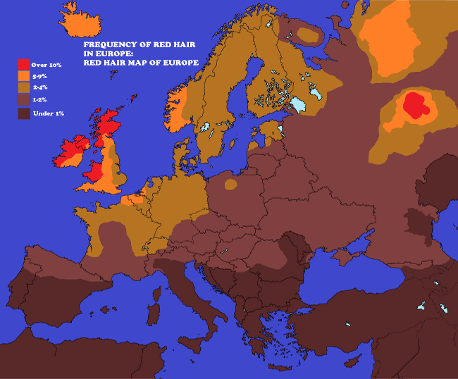 Red-hair - 10 cool maps