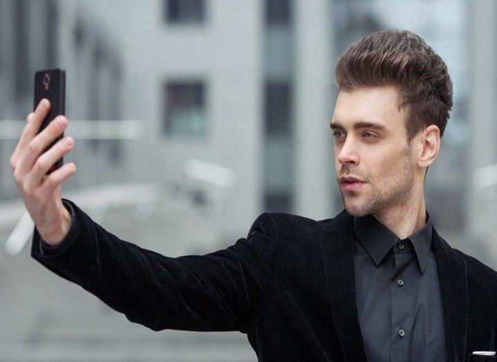Selfie in business suit