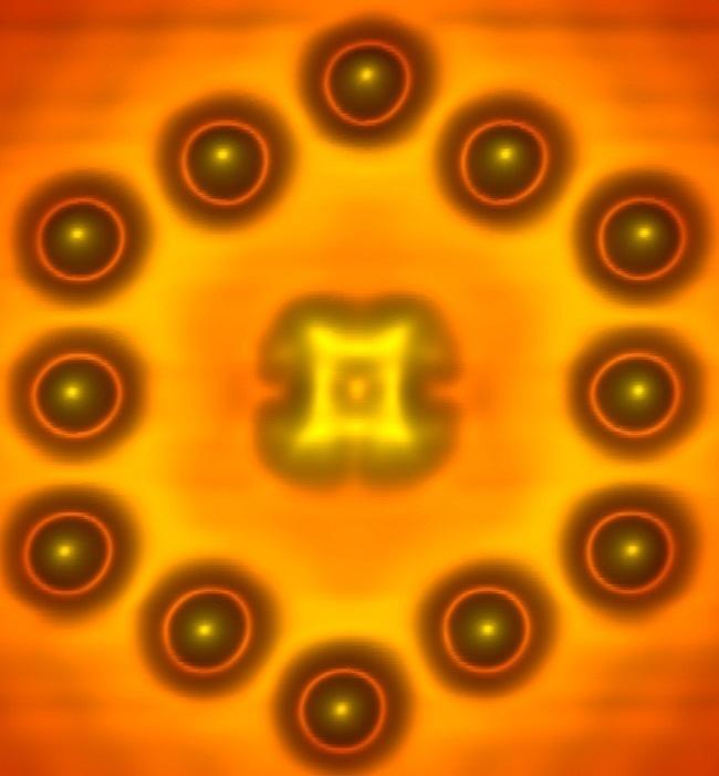 Single-molecule transistor image