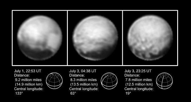 Three Pluto images