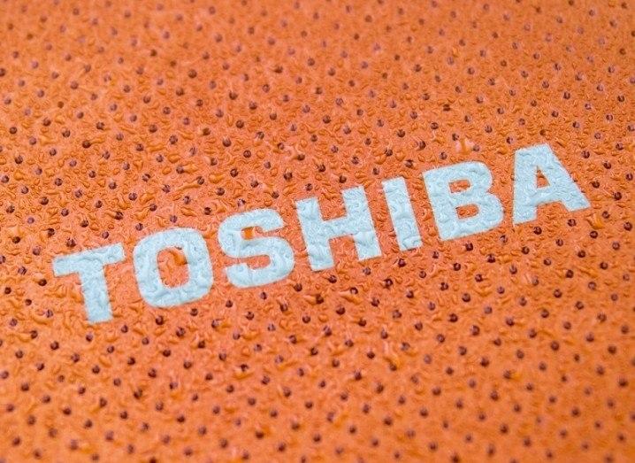 Toshiba orange logo