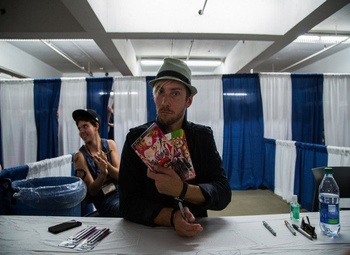 Troy Baker at signing