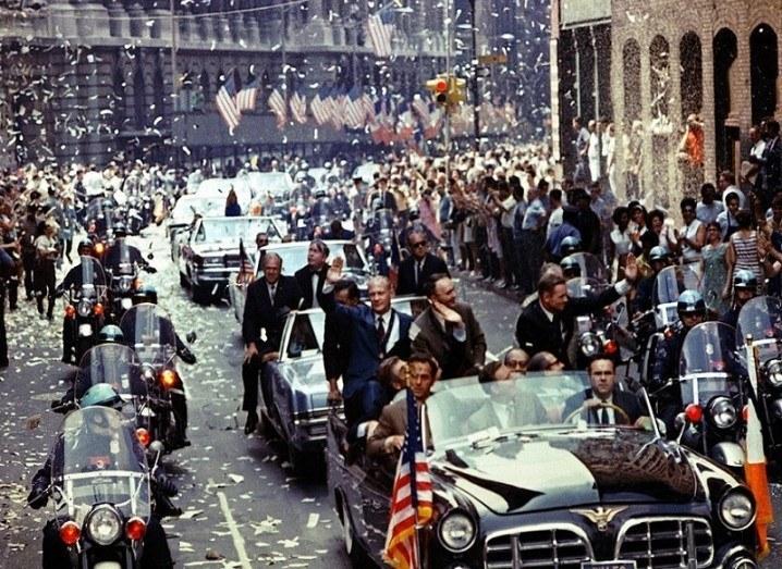 Rare Apollo photos ticker tape parade