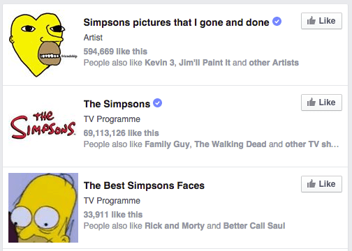 The Best Simpsons Faces