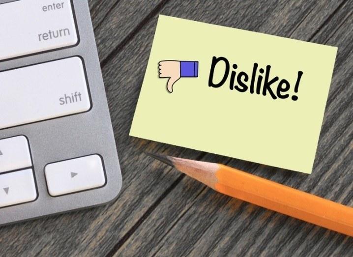 Dislike image via Shutterstock