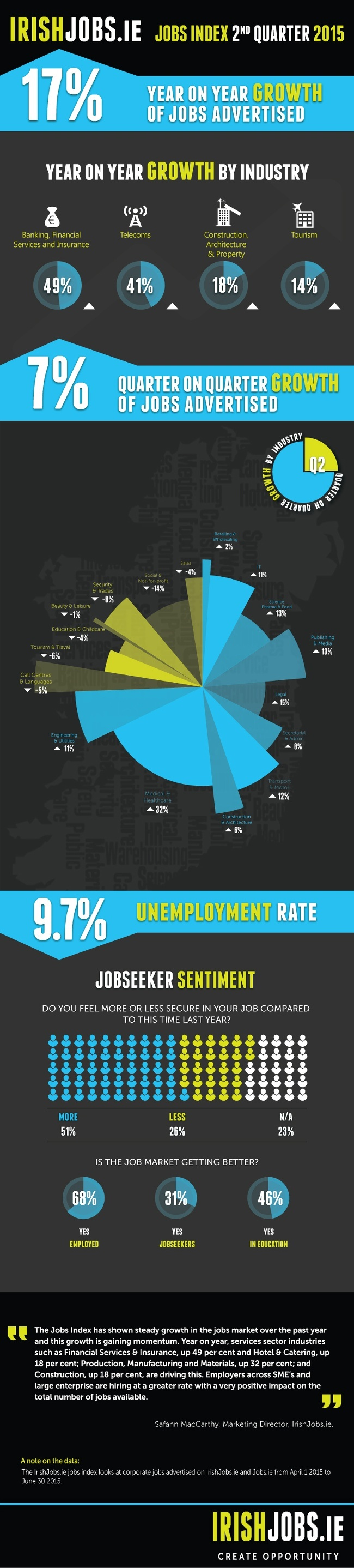 IT jobs Ireland - Irish jobs index infographic