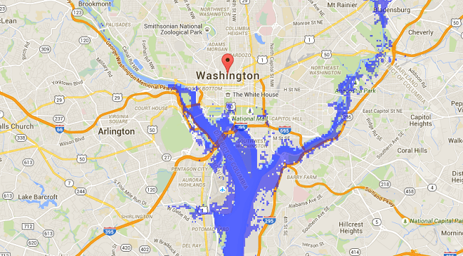 Rising sea levels Washington