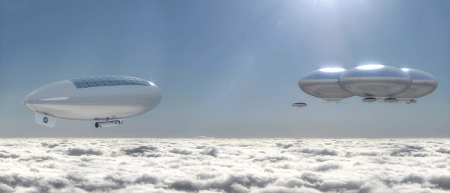 Venus cloud city - strange spacecraft