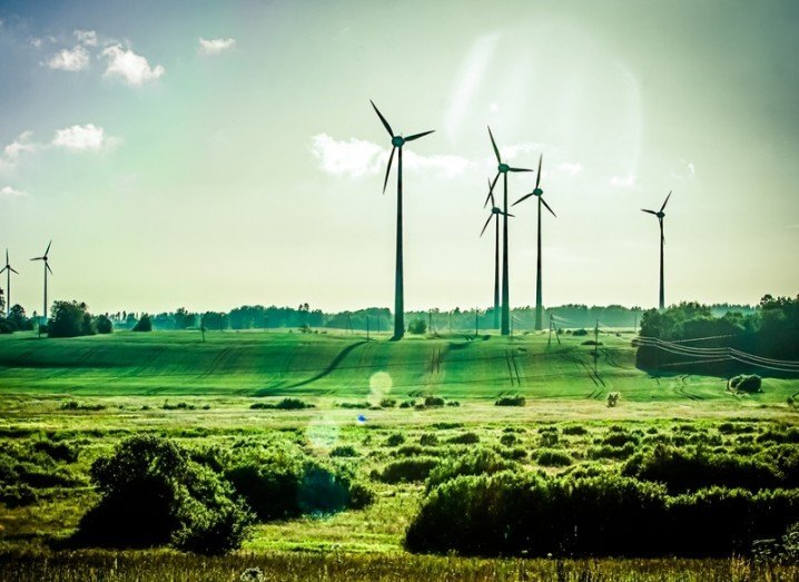 Wind energy image via Shutterstock