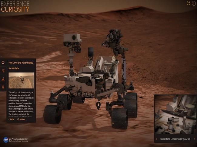 3D curiosity simulator rover