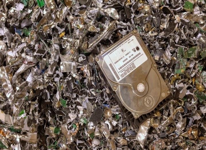 E-waste hard drives