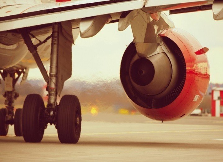 Knock Airport jet engine