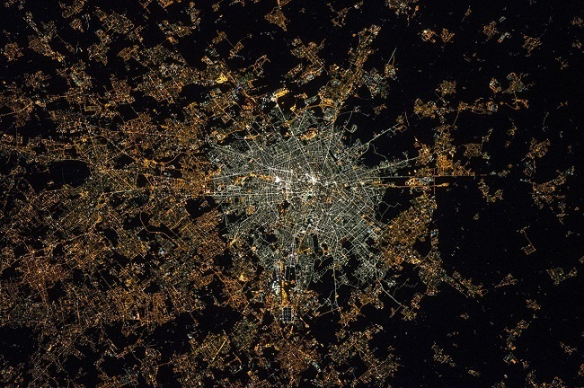 Light pollution Milan