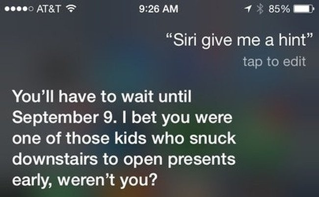 Sassy Siri iPhone 6S