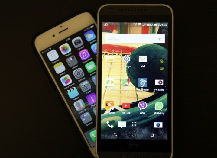 Android v iOS smartphones