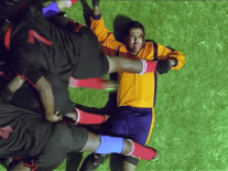 Viral videos: Rugby fever, Dizzy Goals, Foo Fighters, crazy animals and bold babies